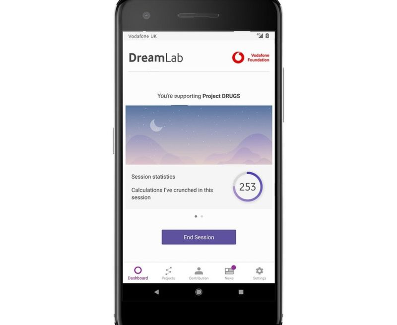 Dreamlab app for processing cancer research